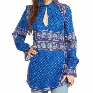 Free People True Blue Blouse